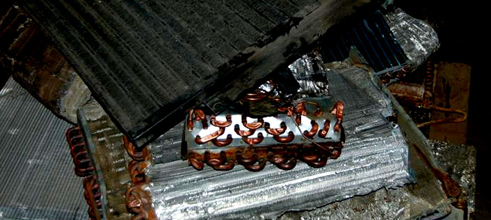Photo of Aluminum/Copper Coil (Dirty)