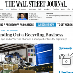 Rockaway Recycling Featured in the Wall Street Journal